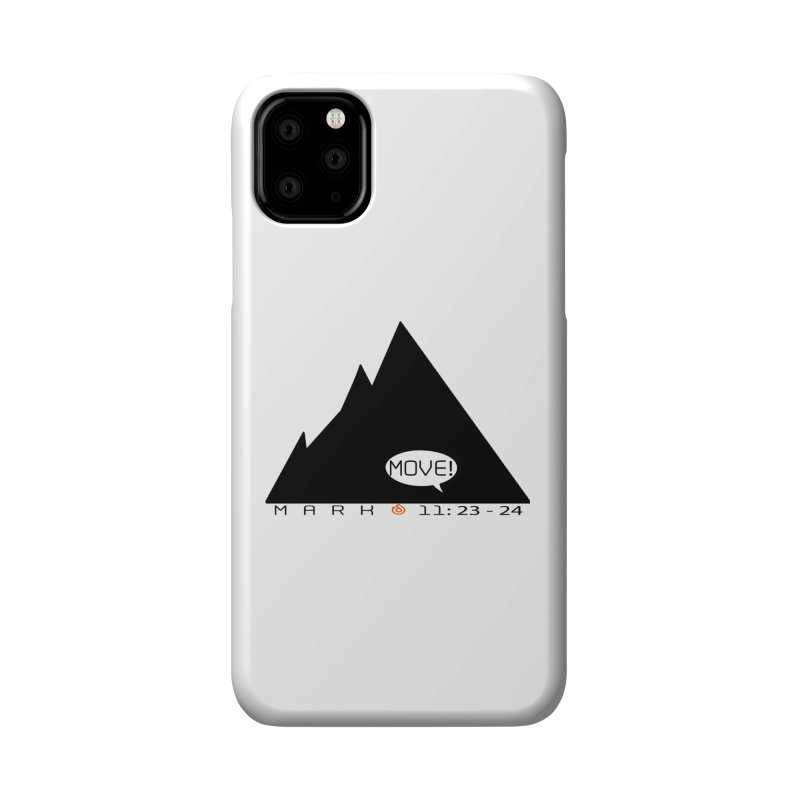 MOVE! BLACK PRINT Accessories Phone Case by direction.church gear