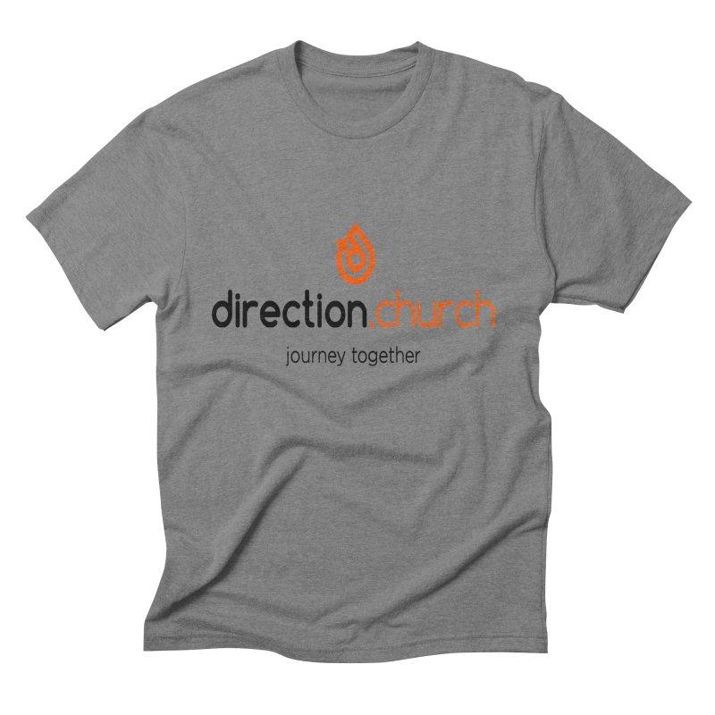 Full Color Logo Shirts Men's Triblend T-Shirt by direction.church gear