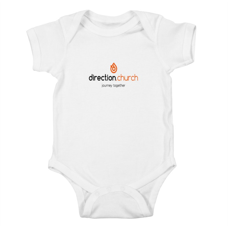 Full Color Logo Shirts Kids Baby Bodysuit by direction.church gear