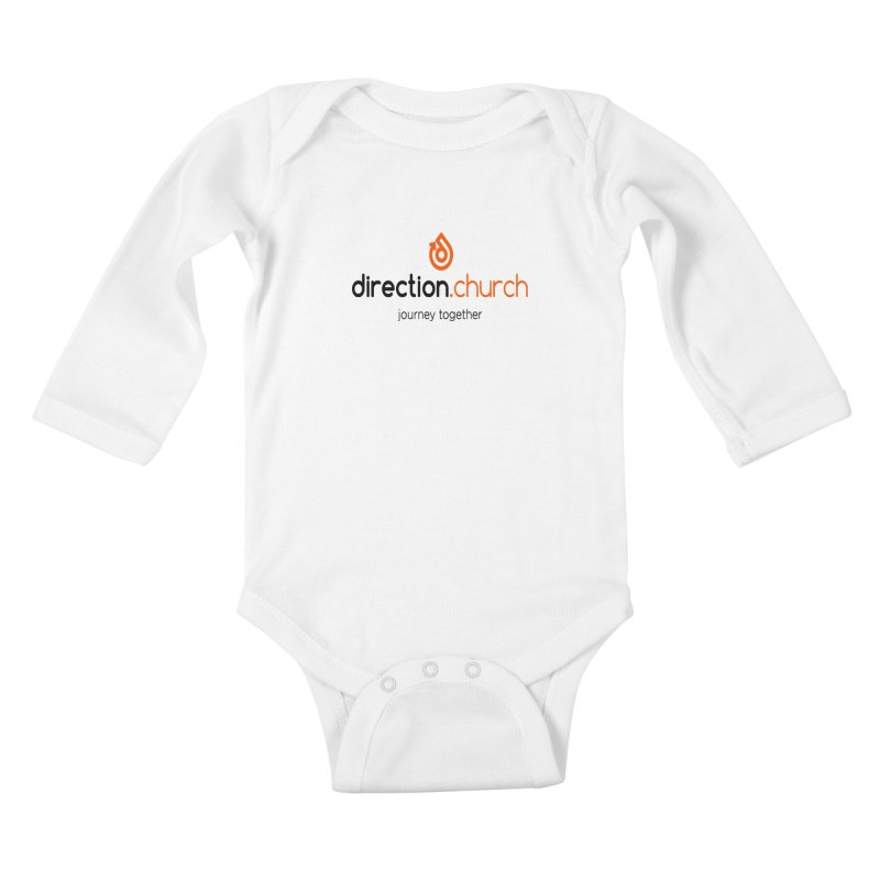 Full Color Logo Shirts Kids Baby Longsleeve Bodysuit by direction.church gear
