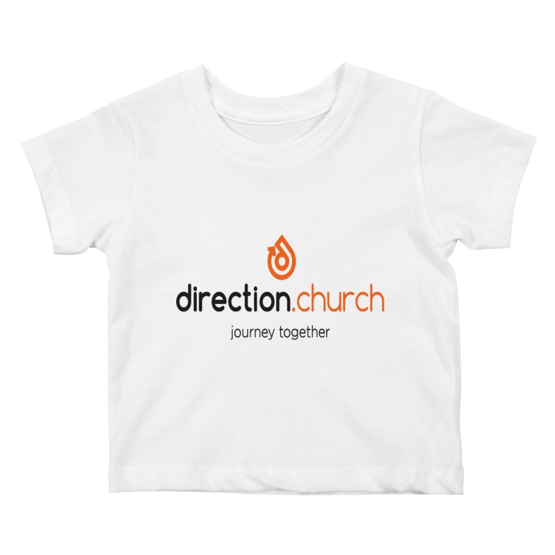Full Color Logo Shirts Kids Baby T-Shirt by direction.church gear
