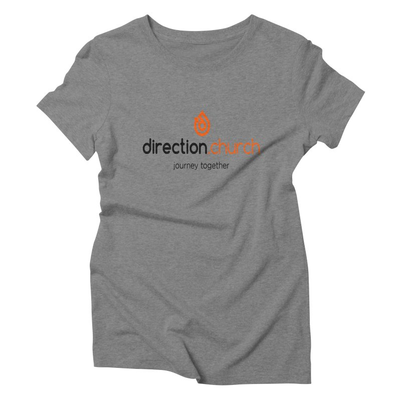 Full Color Logo Shirts Women's Triblend T-Shirt by direction.church gear