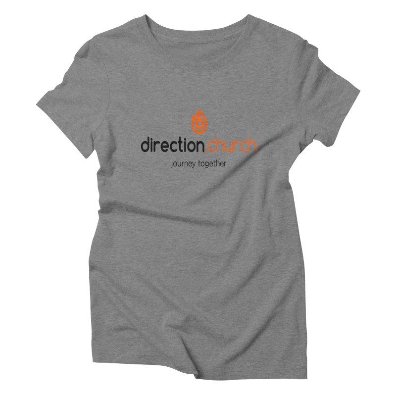 Full Color Logo Shirts Women's Triblend T-Shirt by direction.church gear