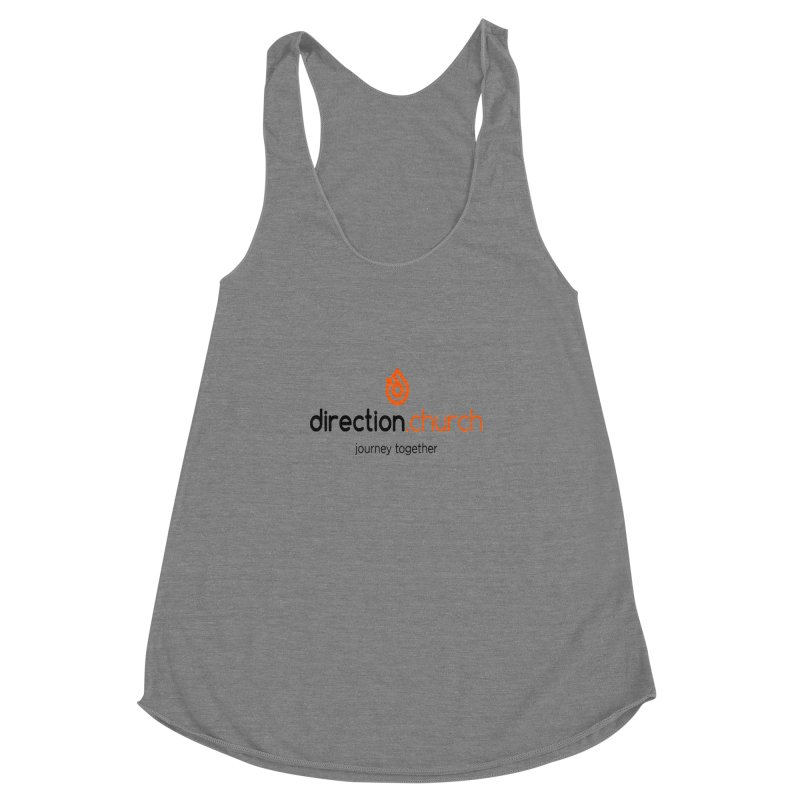 Full Color Logo Shirts Women's Racerback Triblend Tank by direction.church gear