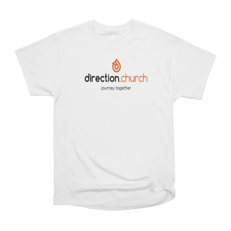 Full Color Logo Shirts Women's Heavyweight Unisex T-Shirt by direction.church gear
