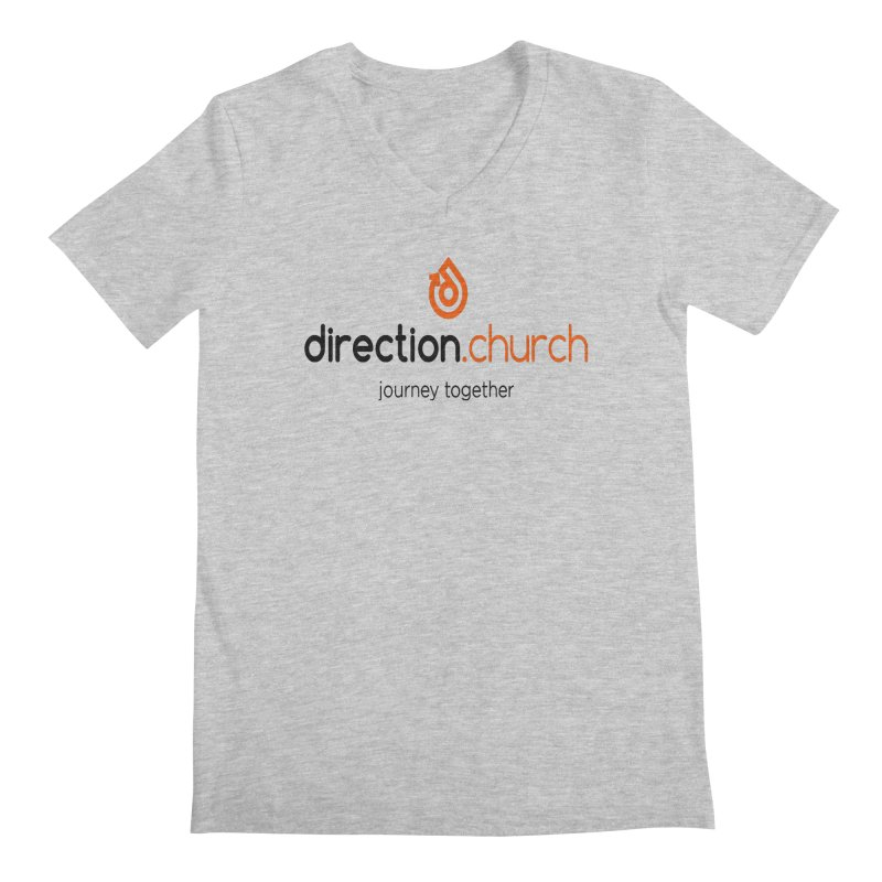 Full Color Logo Shirts Men's Regular V-Neck by direction.church gear