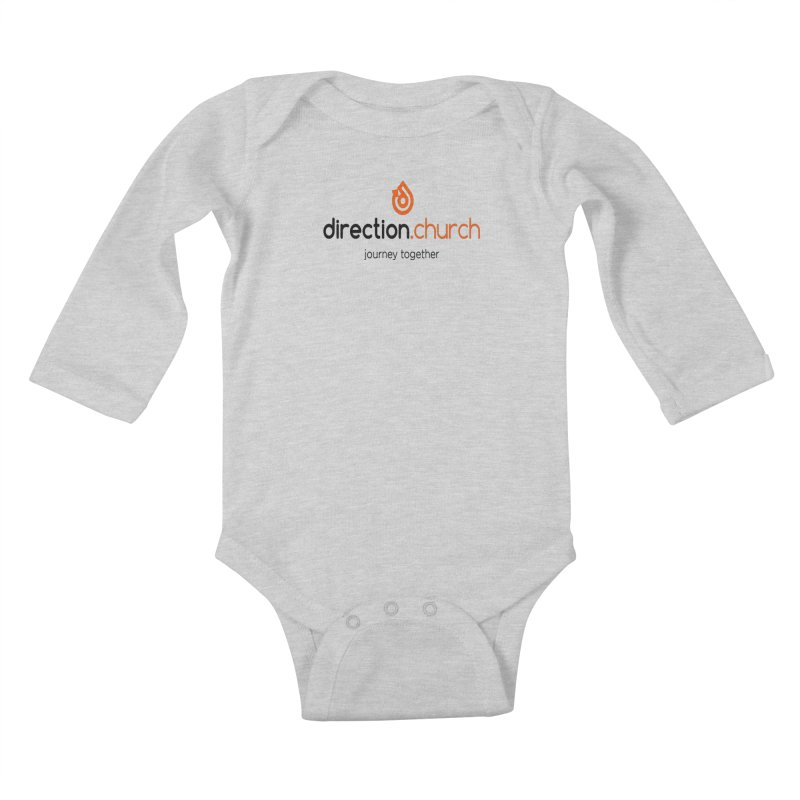 Full Color Logo Shirts Kids Baby Longsleeve Bodysuit by direction.church gear