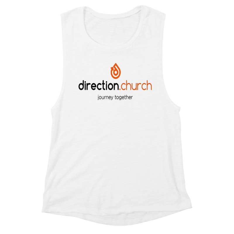 Full Color Logo Shirts Women's Muscle Tank by direction.church gear