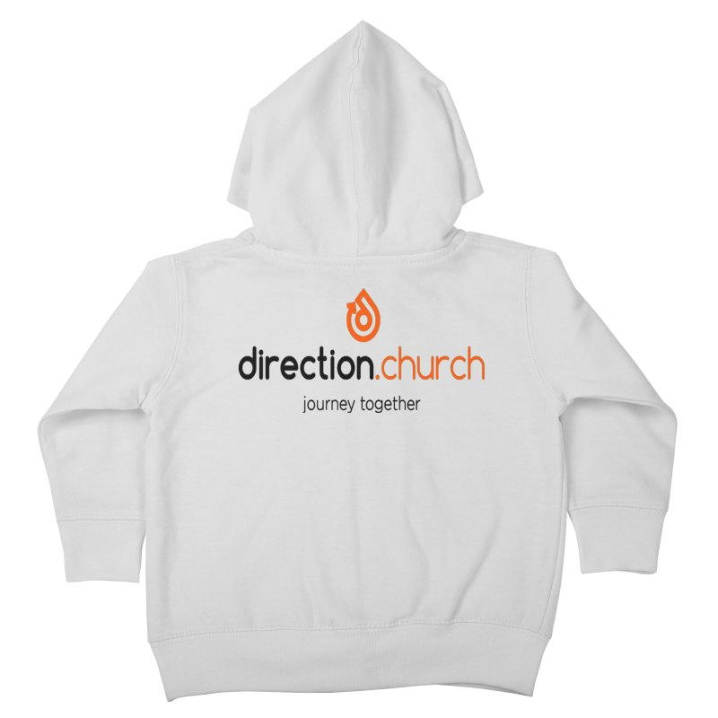 Full Color Logo Shirts Kids Toddler Zip-Up Hoody by direction.church gear