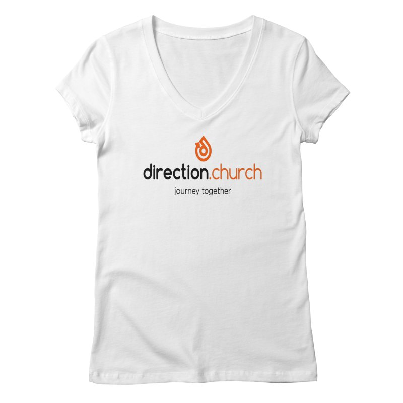 Full Color Logo Shirts Women's Regular V-Neck by direction.church gear