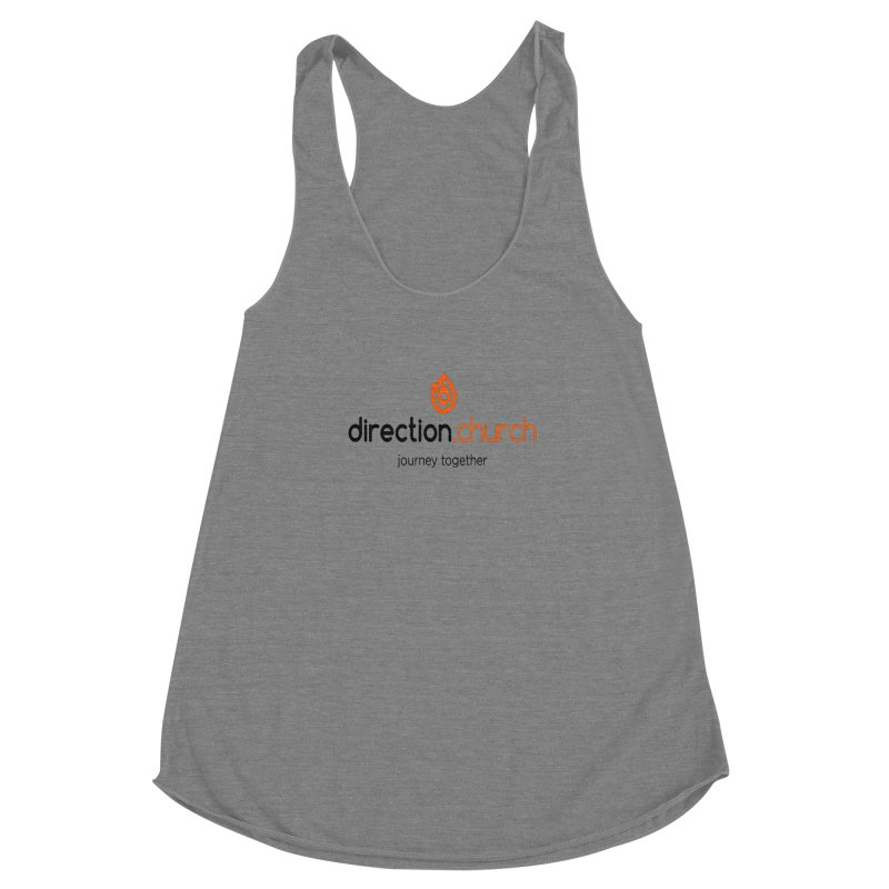 Full Color Logo Shirts Women's Racerback Triblend Tank by direction.church gear