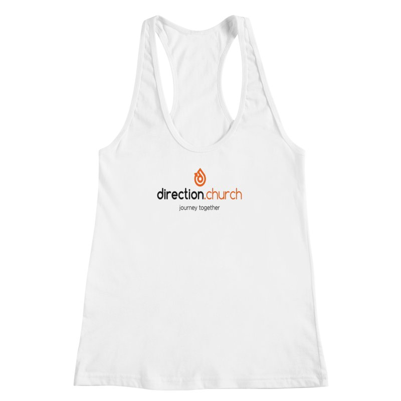 Full Color Logo Shirts Women's Racerback Tank by direction.church gear