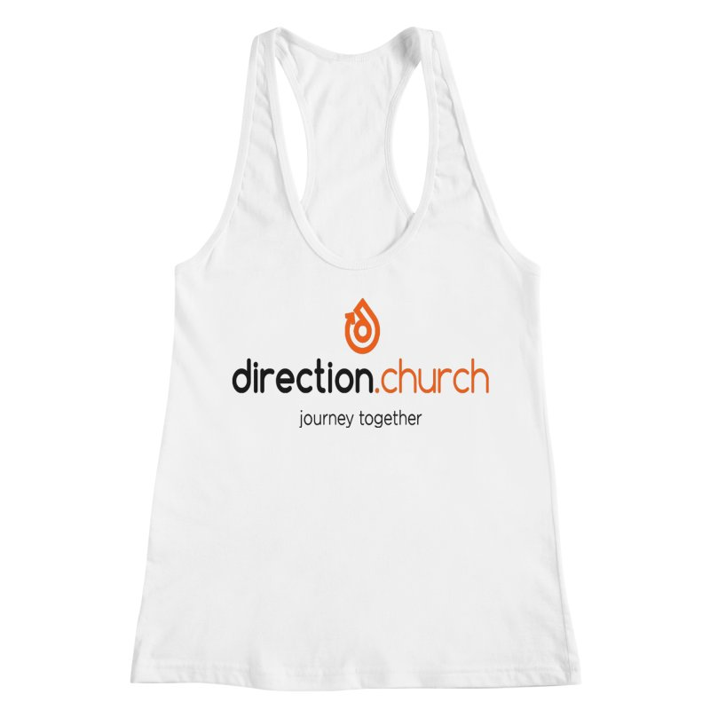 Full Color Logo Shirts Women's Racerback Tank by direction.church gear