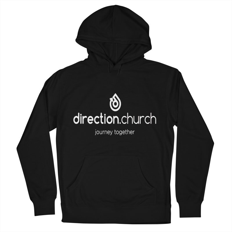White Logo Shirts Women's French Terry Pullover Hoody by direction.church gear