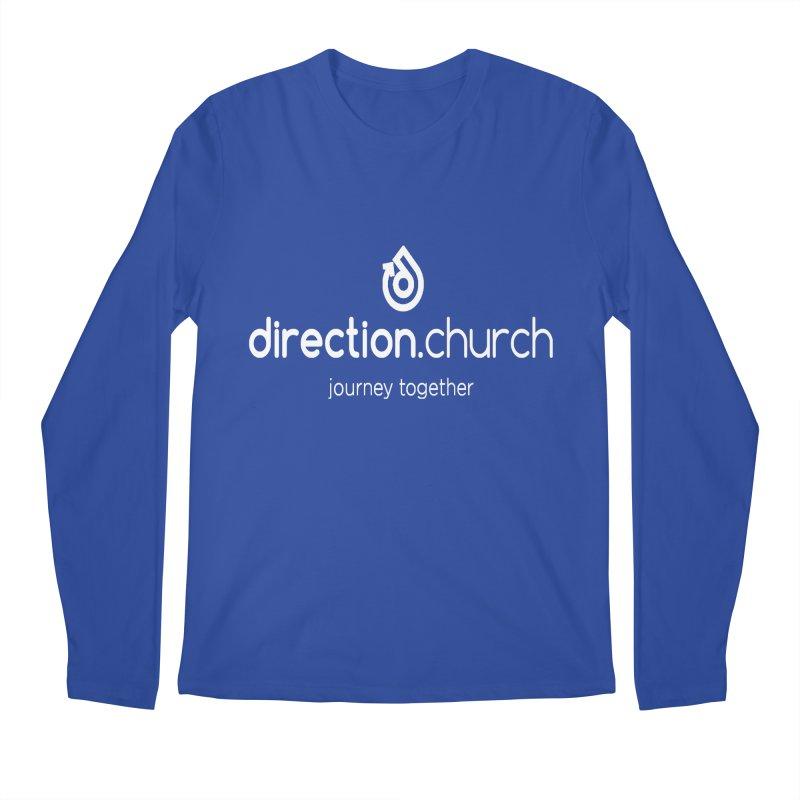 White Logo Shirts Men's Regular Longsleeve T-Shirt by direction.church gear