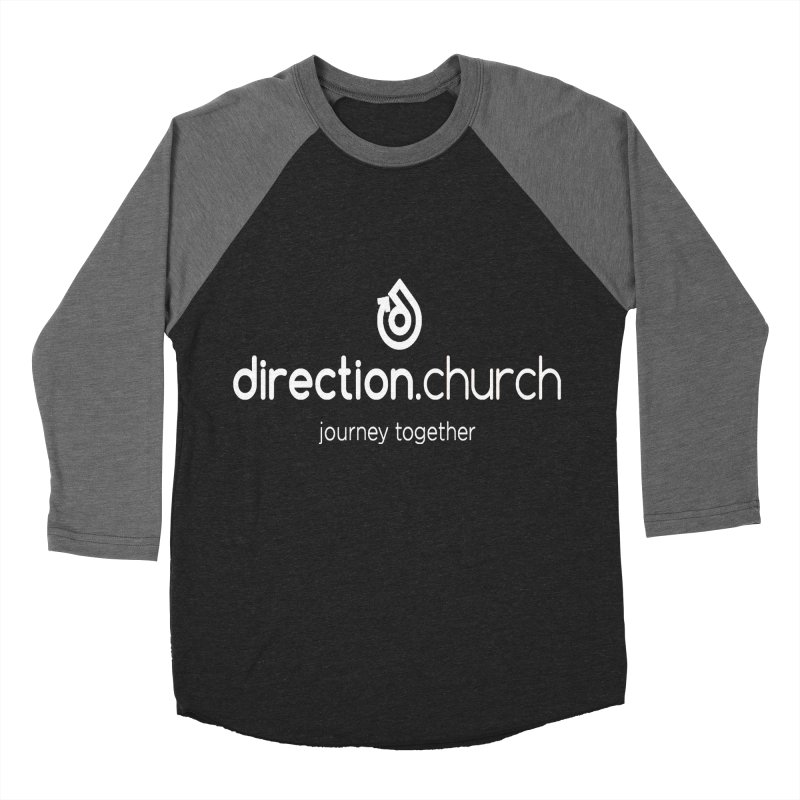 White Logo Shirts Men's Baseball Triblend Longsleeve T-Shirt by direction.church gear