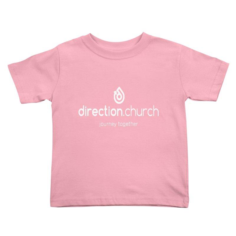 White Logo Shirts Kids Toddler T-Shirt by direction.church gear