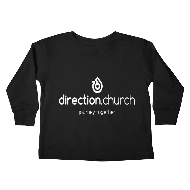 White Logo Shirts Kids Toddler Longsleeve T-Shirt by direction.church gear