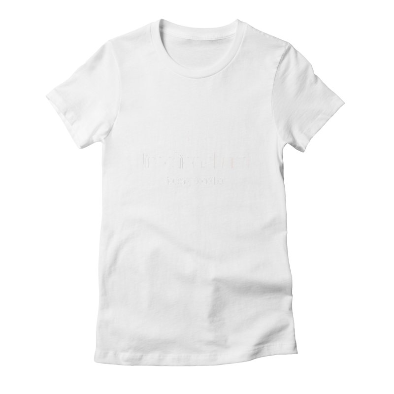 White Logo Shirts Women's Fitted T-Shirt by direction.church gear