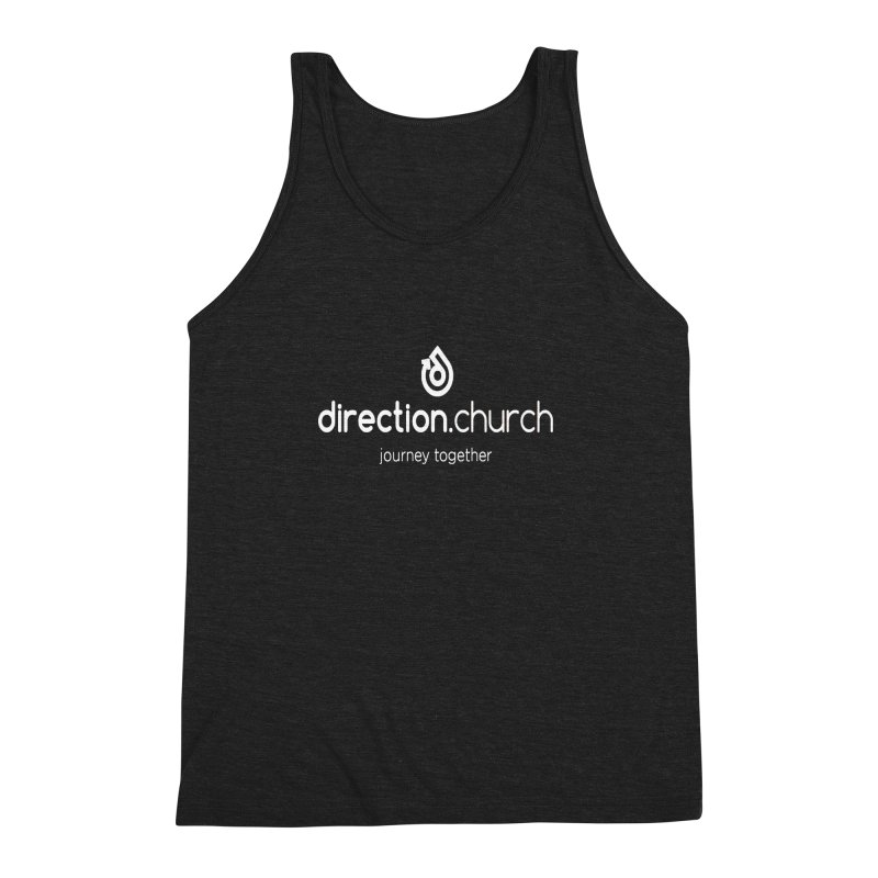 White Logo Shirts Men's Triblend Tank by direction.church gear