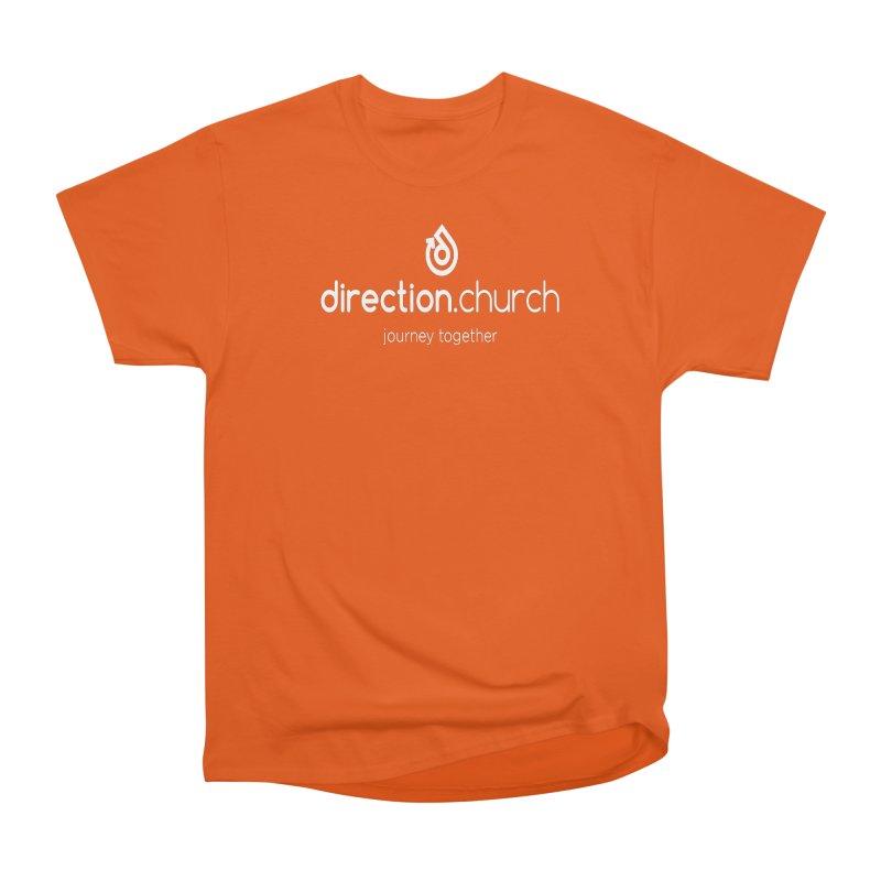 White Logo Shirts Men's Heavyweight T-Shirt by direction.church gear