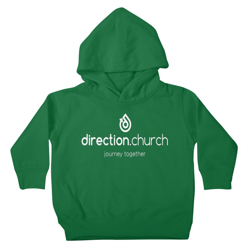 White Logo Shirts Kids Toddler Pullover Hoody by direction.church gear