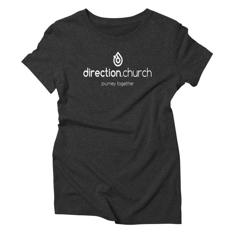 White Logo Shirts Women's Triblend T-Shirt by direction.church gear