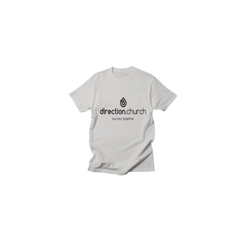 Black Logo Shirts by direction.church gear