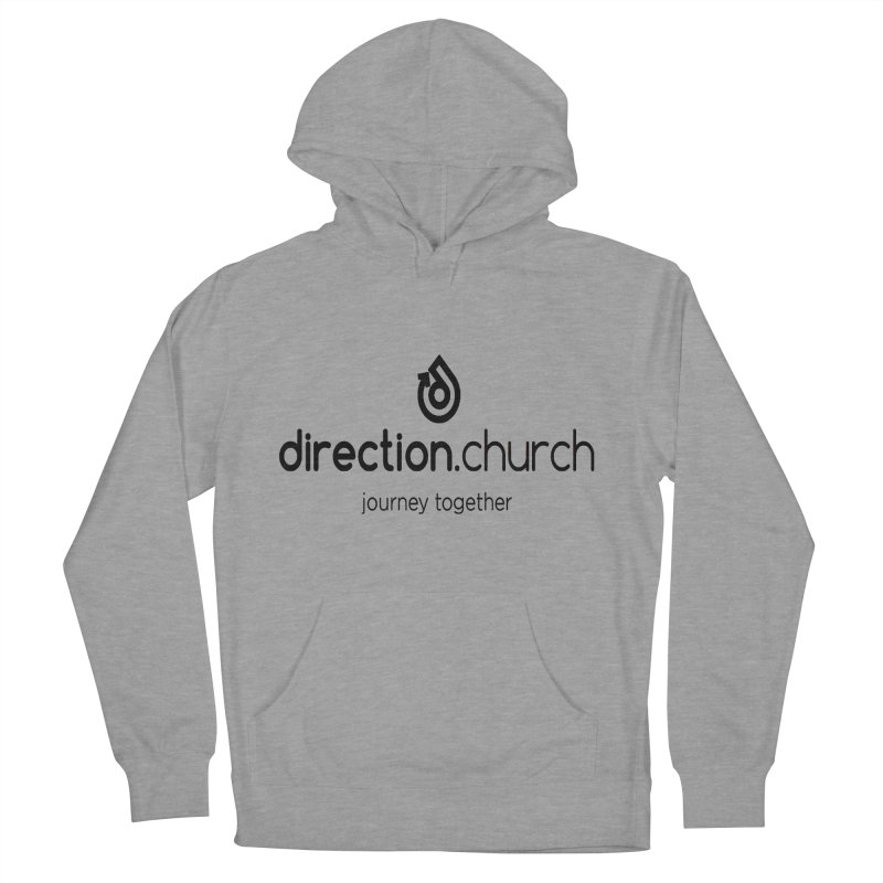 Black Logo Shirts Women's French Terry Pullover Hoody by direction.church gear