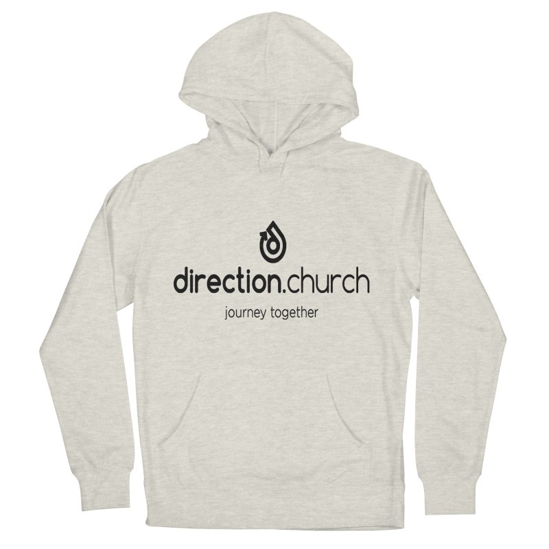 Black Logo Shirts Men's French Terry Pullover Hoody by direction.church gear