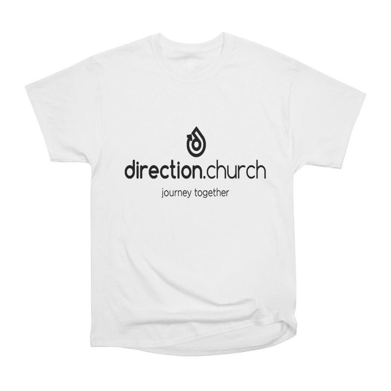 Black Logo Shirts Men's Heavyweight T-Shirt by direction.church gear