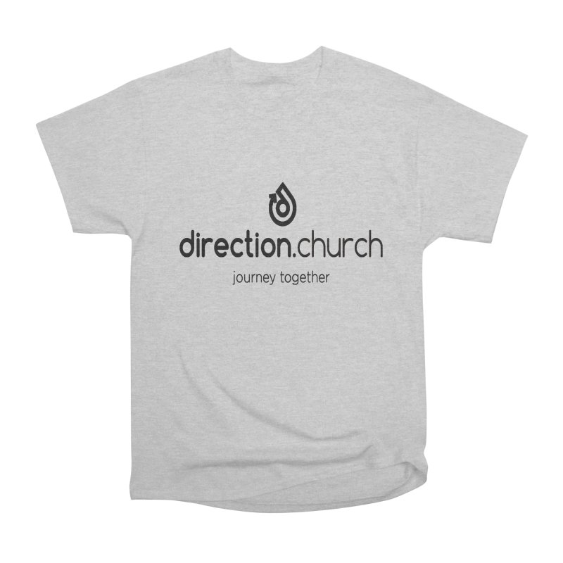 Black Logo Shirts Women's Heavyweight Unisex T-Shirt by direction.church gear