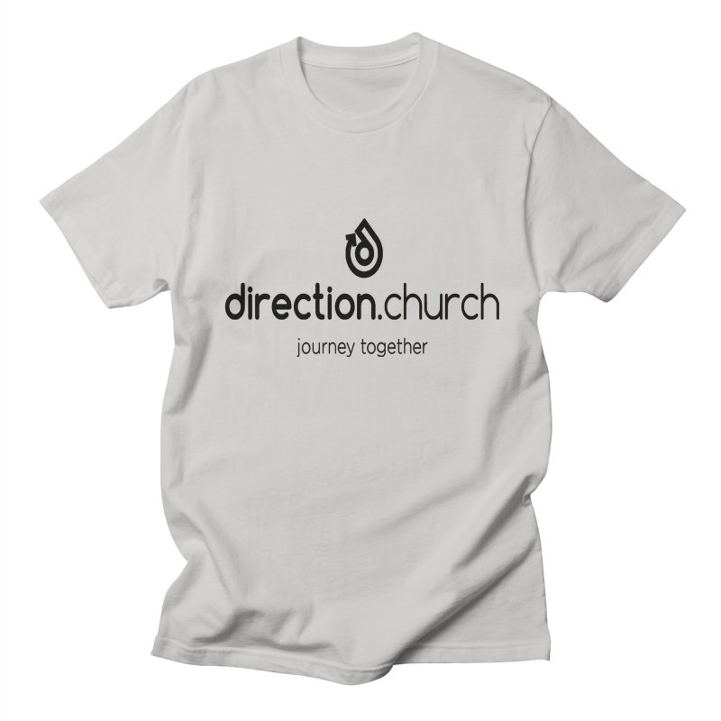 Black Logo Shirts Men's Regular T-Shirt by direction.church gear