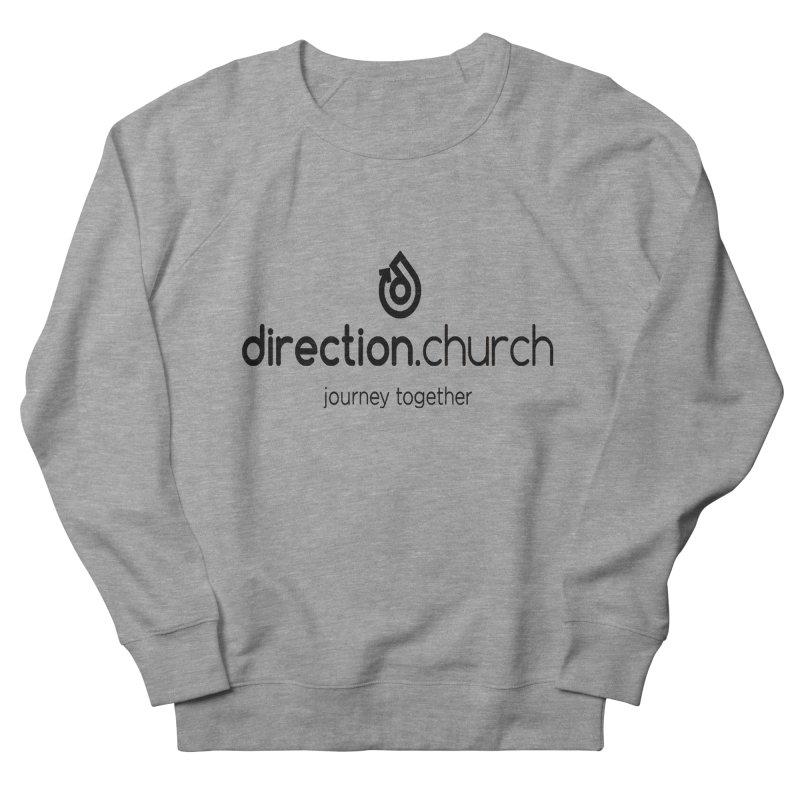 Black Logo Shirts Women's French Terry Sweatshirt by direction.church gear
