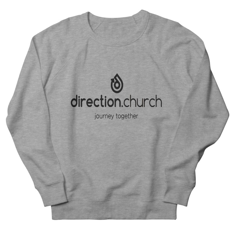Black Logo Shirts Men's French Terry Sweatshirt by direction.church gear