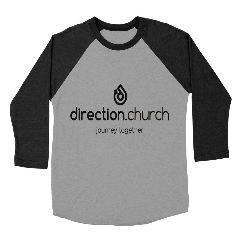 Black Logo Shirts Men's Baseball Triblend Longsleeve T-Shirt by direction.church gear