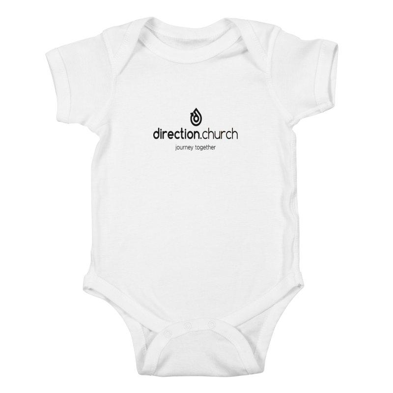 Black Logo Shirts Kids Baby Bodysuit by direction.church gear