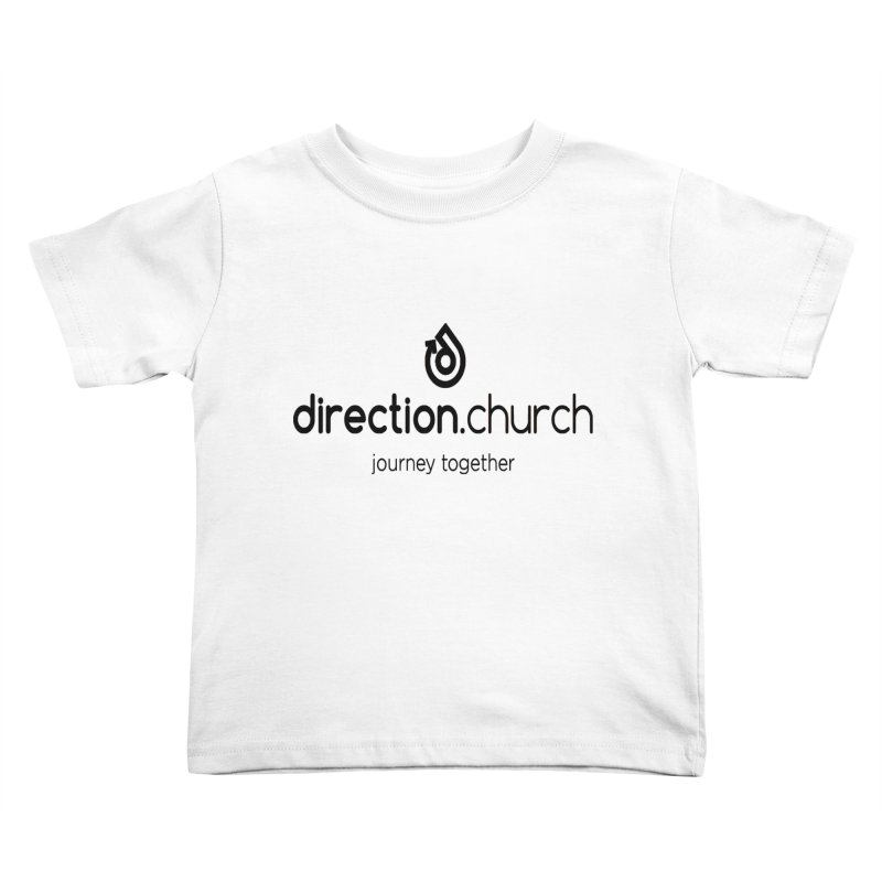 Black Logo Shirts Kids Toddler T-Shirt by direction.church gear
