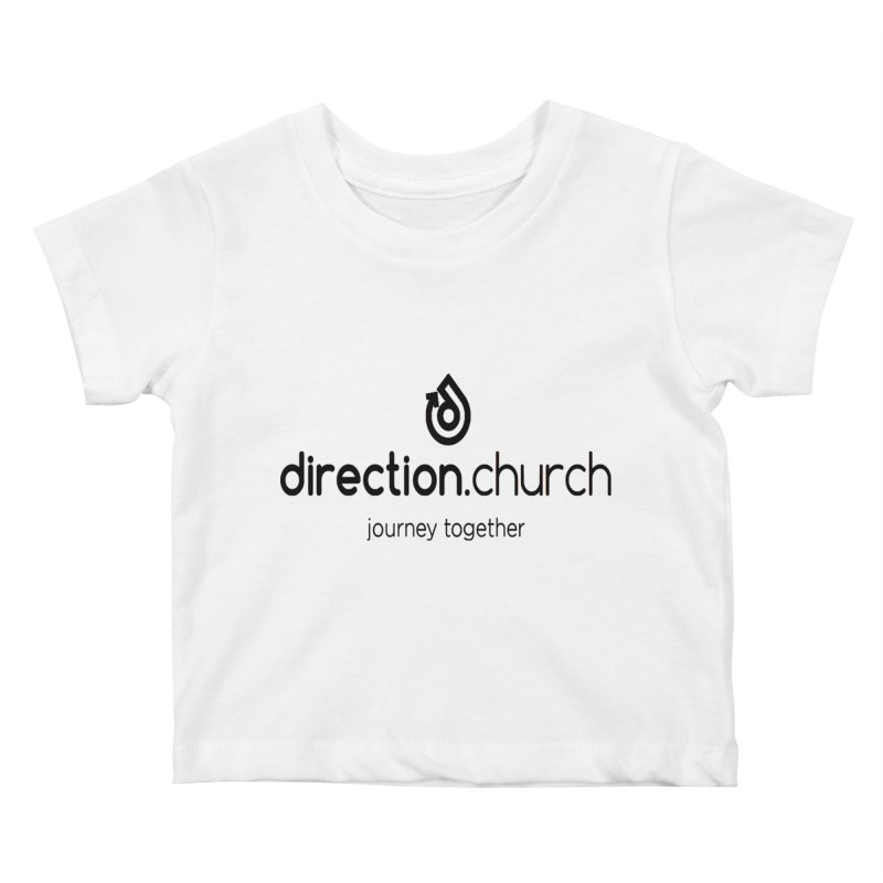 Black Logo Shirts Kids Baby T-Shirt by direction.church gear