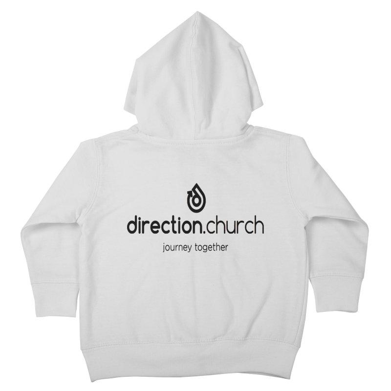 Black Logo Shirts Kids Toddler Zip-Up Hoody by direction.church gear
