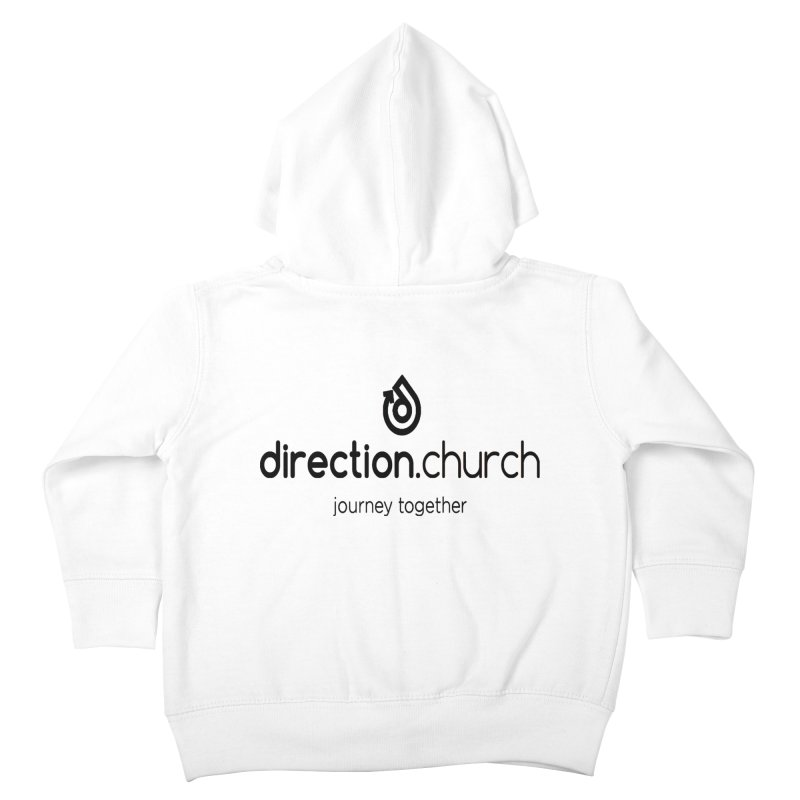 Black Logo Shirts Kids Toddler Zip-Up Hoody by direction.church gear