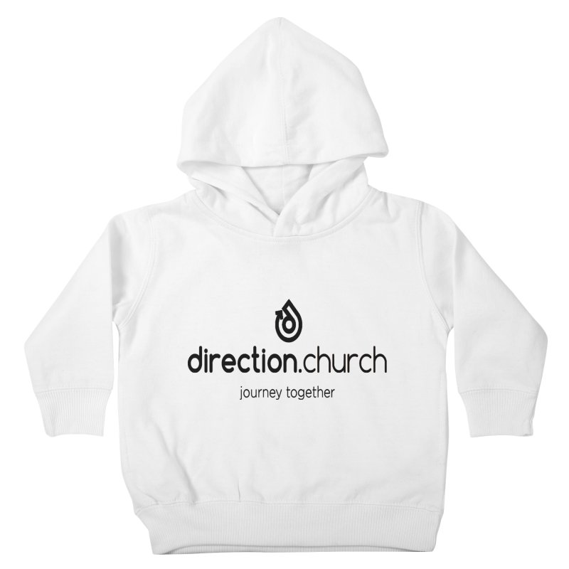 Black Logo Shirts Kids Toddler Pullover Hoody by direction.church gear