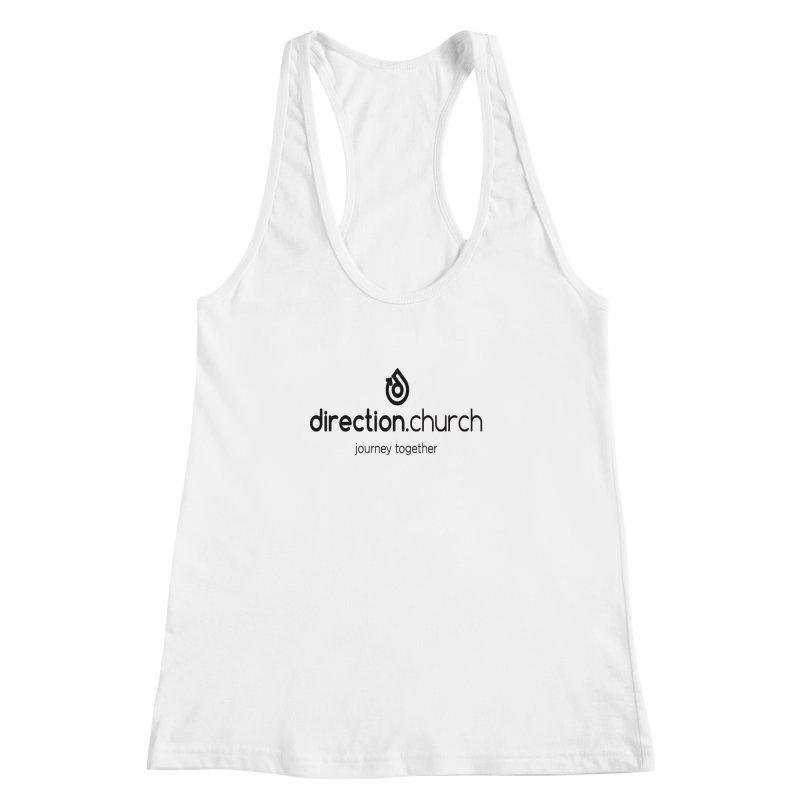 Black Logo Shirts Women's Racerback Tank by direction.church gear