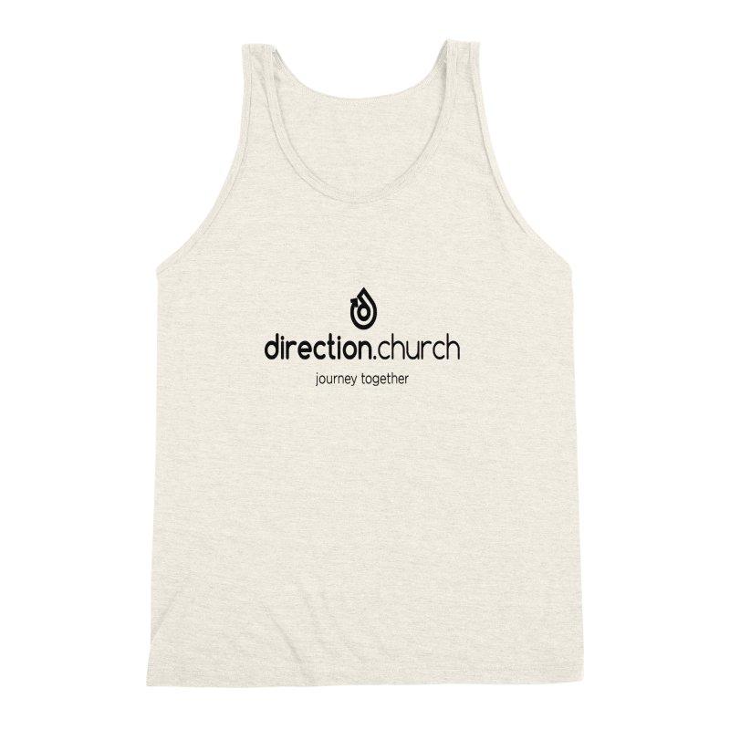 Black Logo Shirts Men's Triblend Tank by direction.church gear