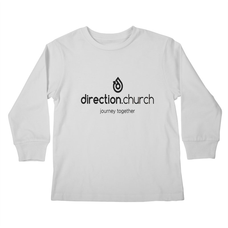 Black Logo Shirts Kids Longsleeve T-Shirt by direction.church gear