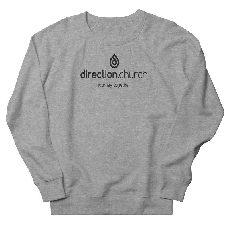 Black Logo Shirts Women's French Terry Sweatshirt by direction.church gear