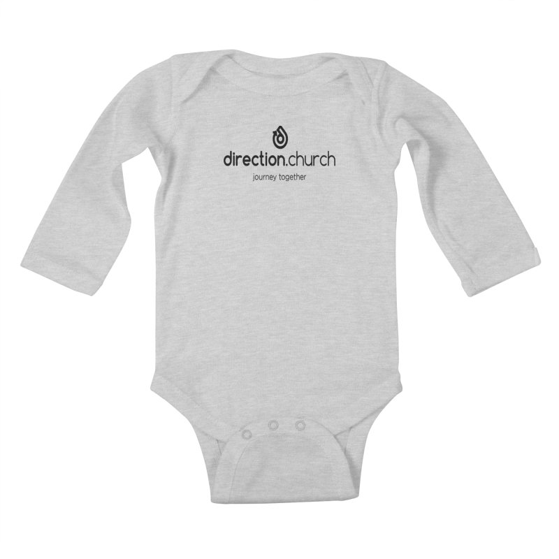 Black Logo Shirts Kids Baby Longsleeve Bodysuit by direction.church gear