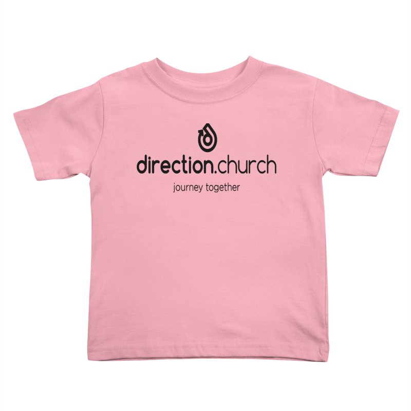Black Logo Shirts Kids Toddler T-Shirt by direction.church gear