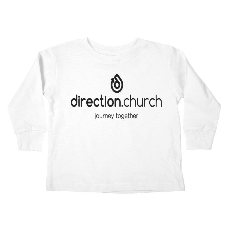 Black Logo Shirts Kids Toddler Longsleeve T-Shirt by direction.church gear