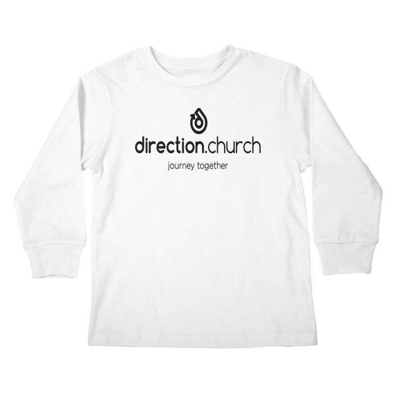 Black Logo Shirts Kids Longsleeve T-Shirt by direction.church gear